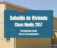 Requisitos para postular al segundo llamado Subsidio de Vivienda Clase Media 2017