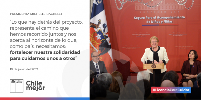 Presidenta Michelle Bachelet Ley Sanna