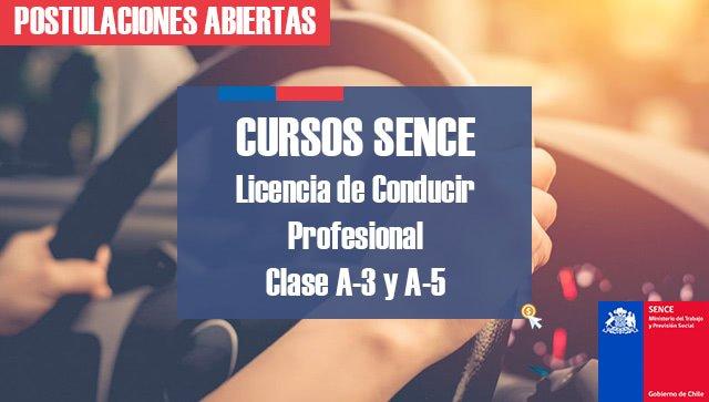cursos sence licencia conducir profesional a3-a5