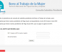 Bonos no cobrados: Subsidio Empleo Joven y  Bono Trabajo de la Mujer 2014-2018