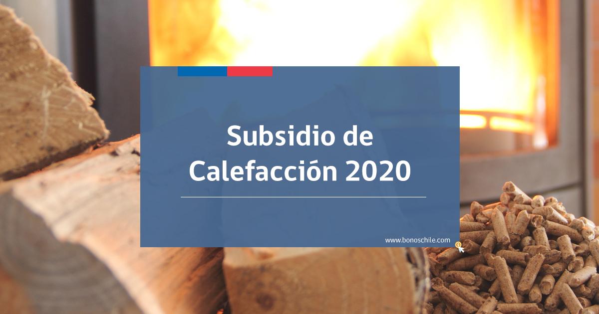 subsidio de calefacción 2020