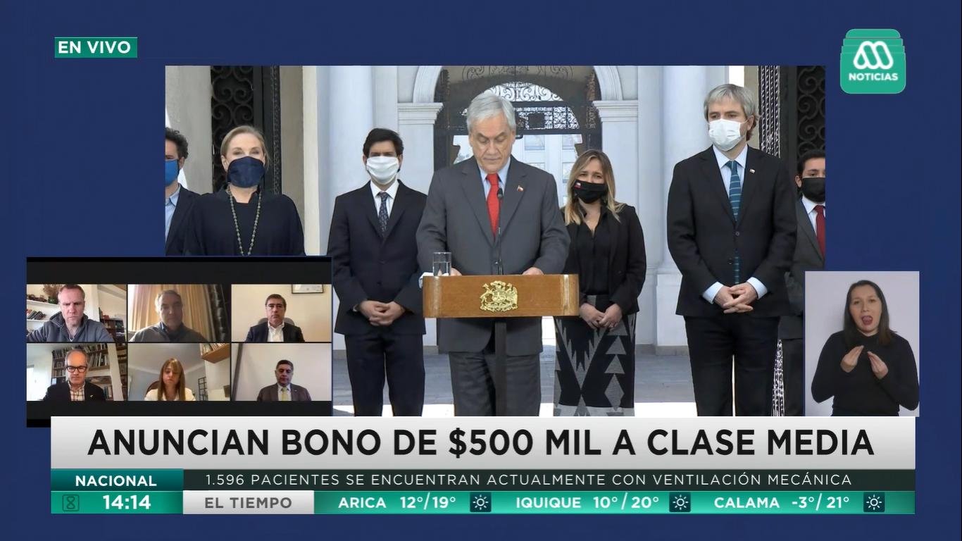 bono de 500 mil pesos clase media
