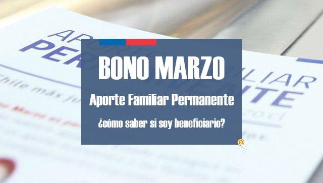 Bono Marzo 2017: Aporte Familiar Permanente
