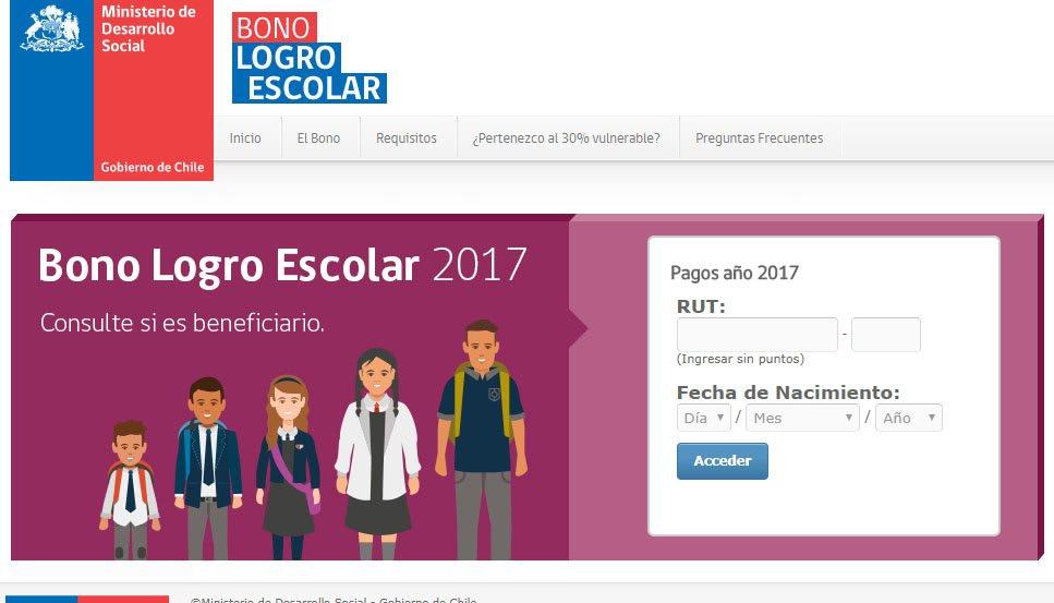 Pagos beneficiarios Bono Logro Escolar 2017