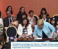 Ley Sanna: hoy se promulgó la ley que permitirá a padres cuidar a hijos con enfermedades graves