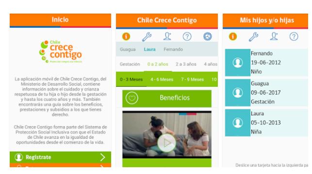 demo aplicación Chile Crece Contigo