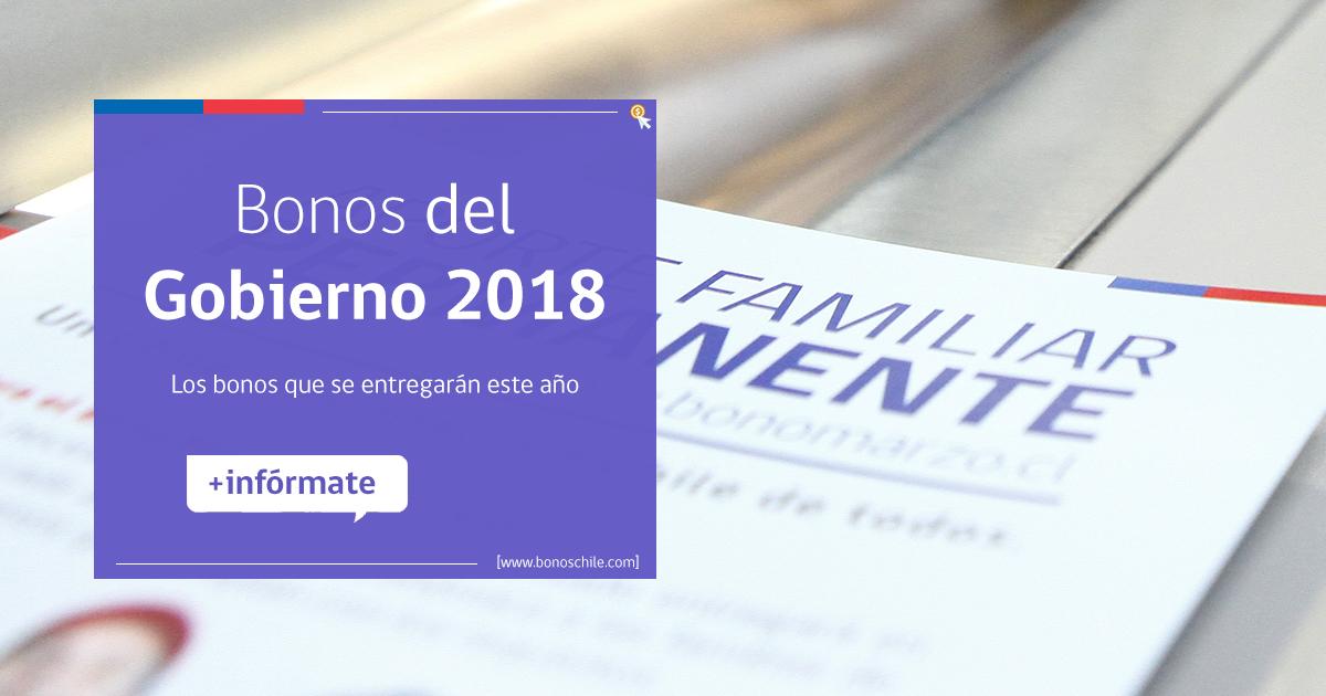 Bonos 2018 del Gobierno de Chile