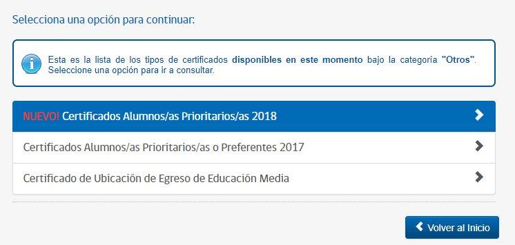 certificado alumno prioritario 2018