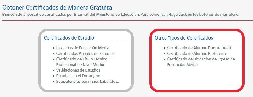 obtener certificado alumno prioritario