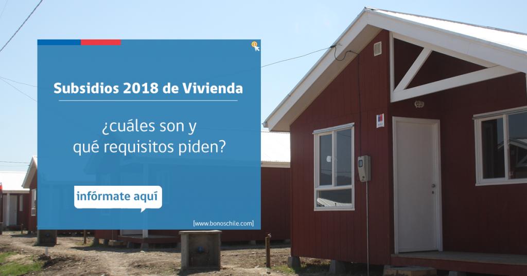 Subsidios 2018 de Vivienda