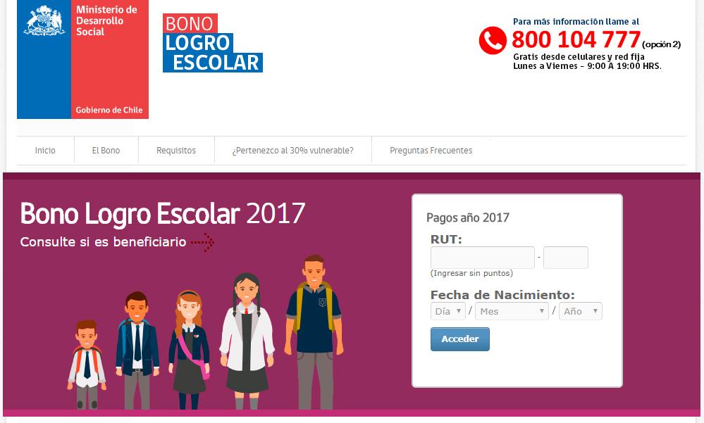 Beneficiarios Bono Logro Escolar