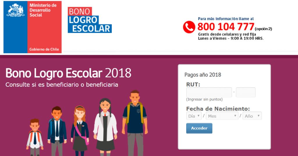 Bono Logro Escolar 2018 Beneficiarios