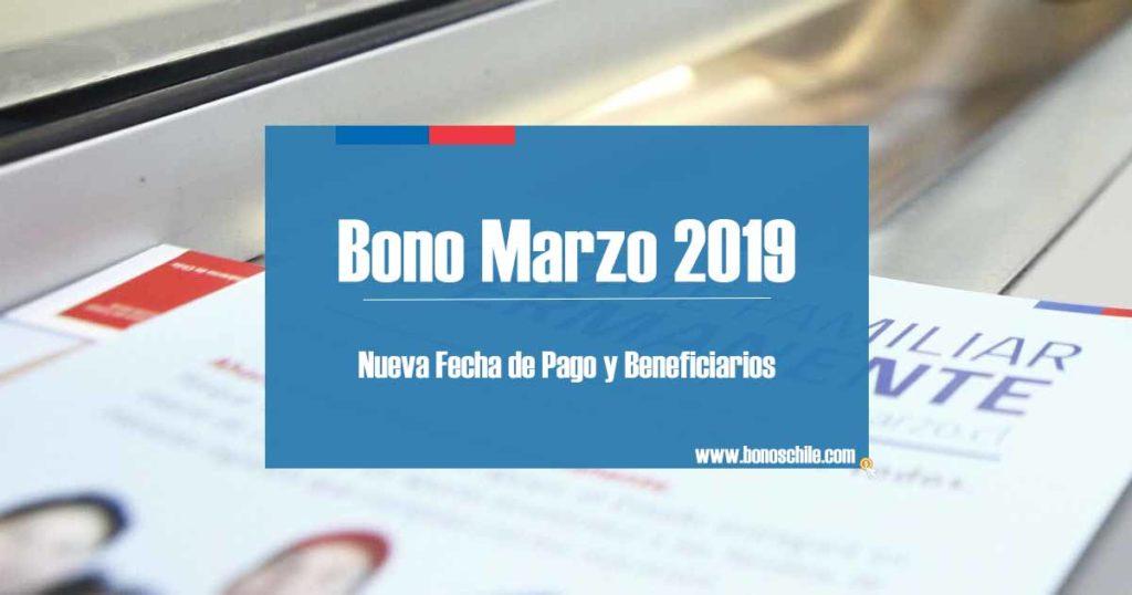 Fecha de Pago Bono Marzo 2019