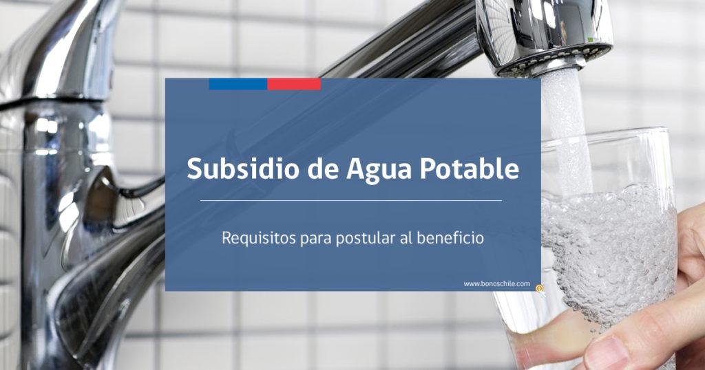 subsidio de agua potable 2019
