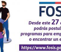 FOSIS abre 30 mil cupos para encontrar empleos e iniciar un emprendimiento