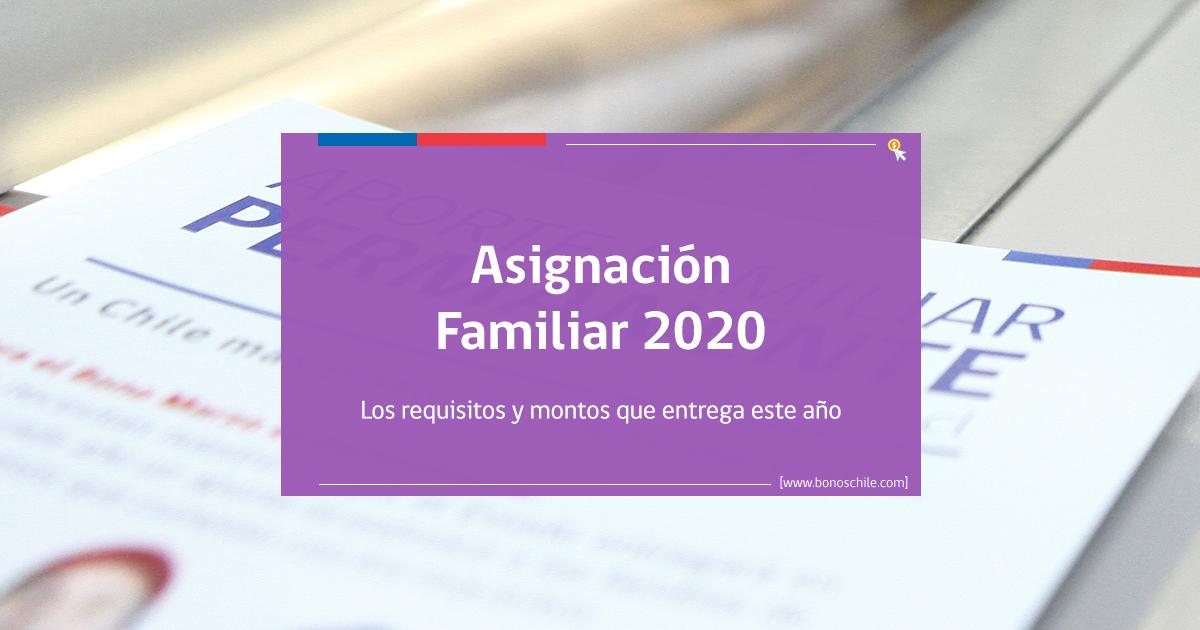 Beneficio de Asignación Familiar 2020