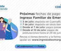 Nuevo pago del Ingreso Familiar de Emergencia, revisa las fechas de pago del mes de Julio