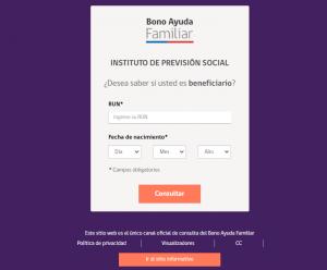 beneficiario bono ayuda familiar