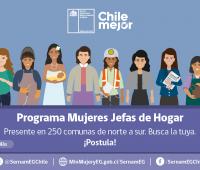 Inicia proceso de postulación Programa Mujeres Jefas de Hogar 2021