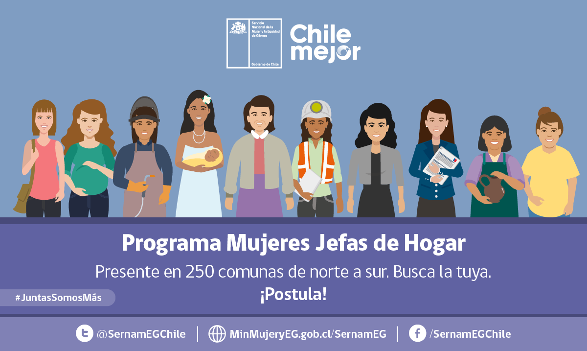 Aún tienes plazo para postular al Programa Mujeres Jefas de Hogar 2021
