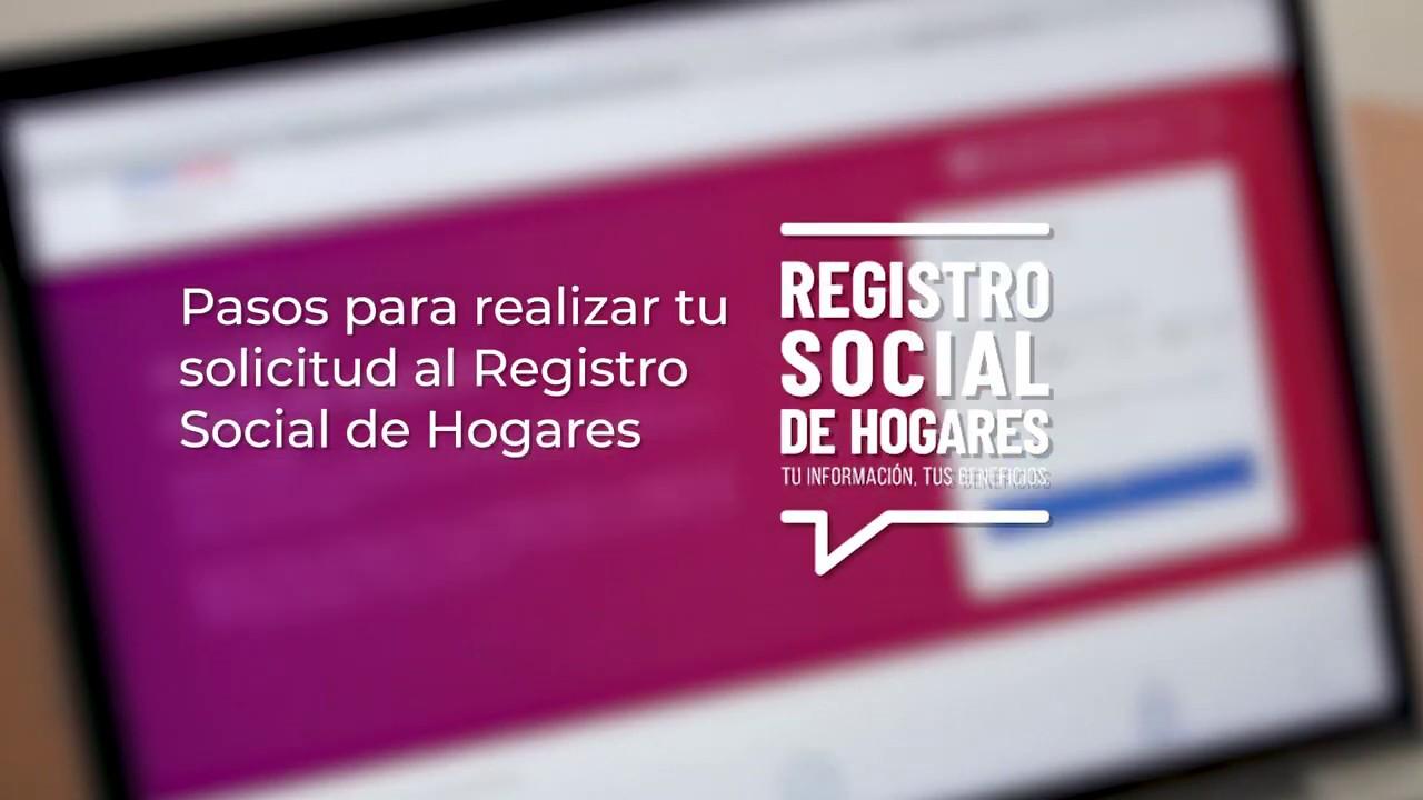 actualizar registro social de hogares