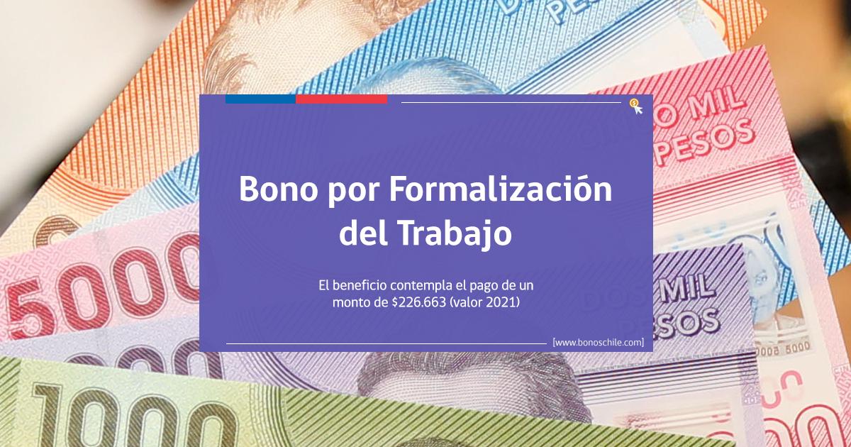 bono por formalización del trabajo 2021