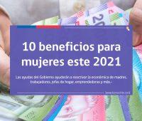 10 beneficios que pueden recibir las mujeres este 2021
